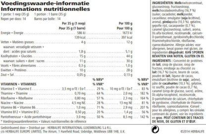 Proteïnereep chocolade pinda 14 st van Herbalife Nutrition
